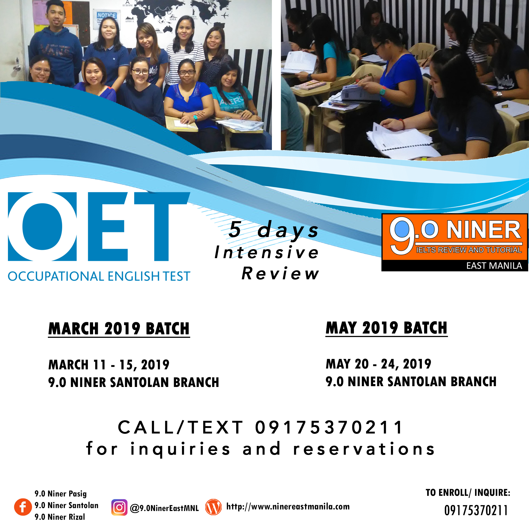 OET Intensive Review – March/May 2019 – 9 0 Niner IELTS